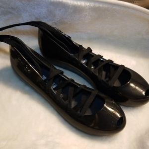 NWOT Melissa + Jeremy Scott Lace Up Flats